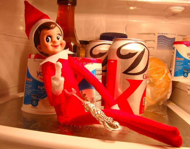 Elf in fridge