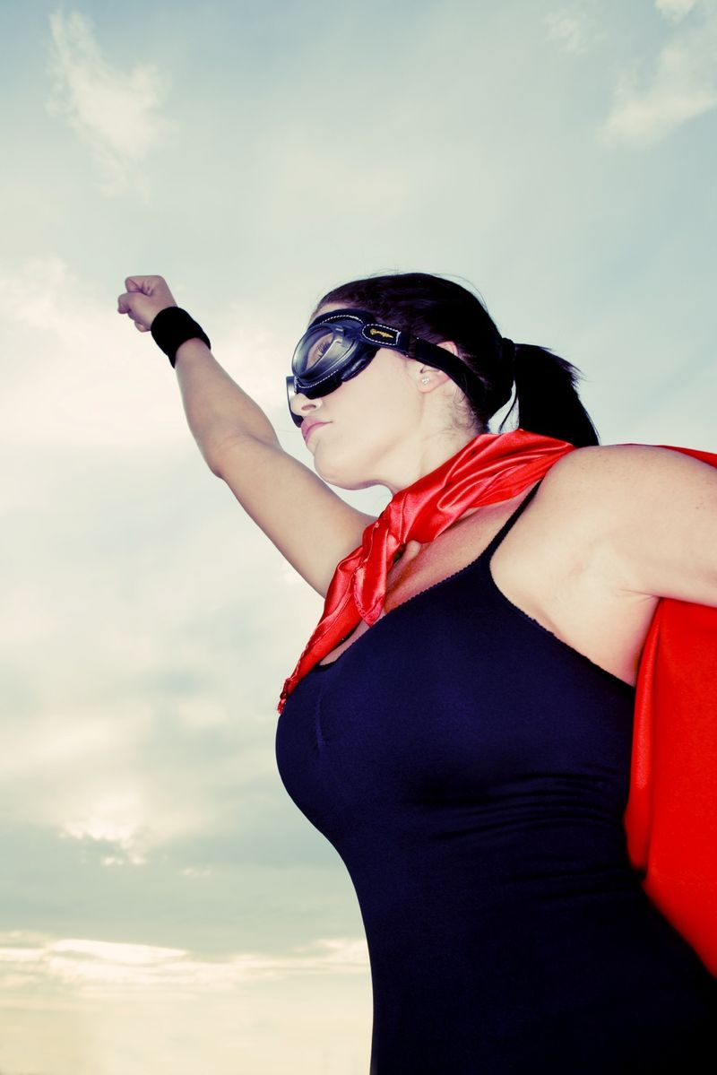Woman as super hero