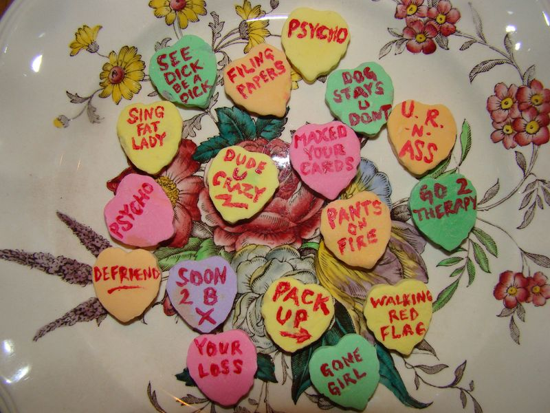 Candy hearts from the past