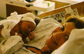 Eli and mom in hospital