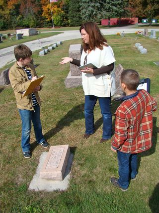 Instructions at grave