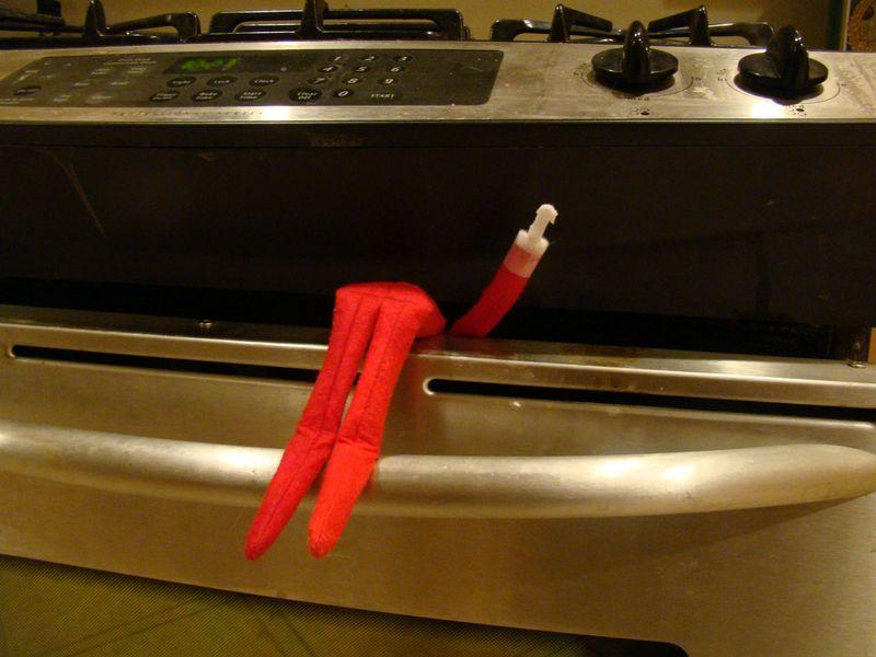 Elf in oven