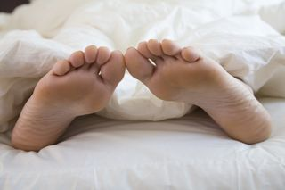 Sleeping feet