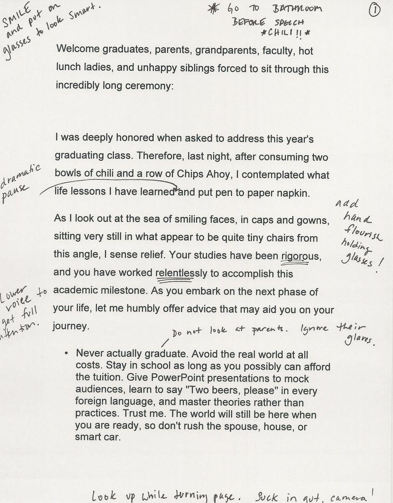 Grad Speech page 1