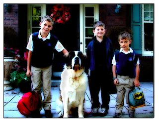 Cartoon first day of school