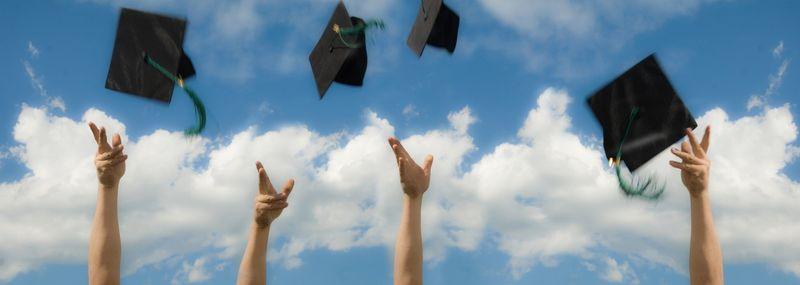 Tossing grad hats