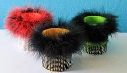 Fuzzy drink holders