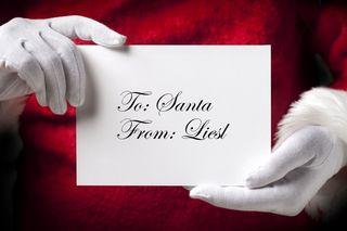 Santa letter to Liesl