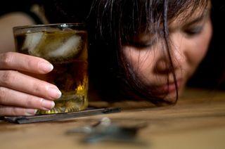 Alcoholic lady