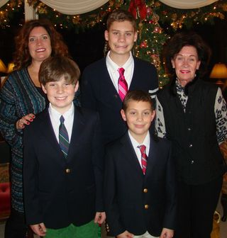 Mom, Liesl and boys